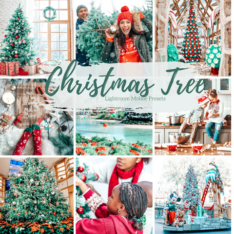 7 Mobile Lightroom Presets, Christmas Tree Preset Cool Winter Lightroom Mobile Instagram Presets  Lifestyle presets Travel Photography Presets