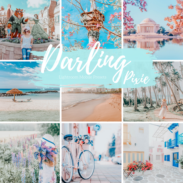 Spring Floral Dreamy Greens Pastel Lightroom Mobile Presets, 5 Travel Blogger Presets, Lifestyle Presets, Fashion Blogger Presets