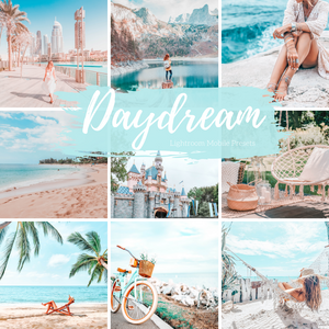 5 Mobile Lightroom Presets, Airy Bright Blues Daydream Lightroom Mobile Instagram Presets  Lifestyle presets Travel Photography Presets