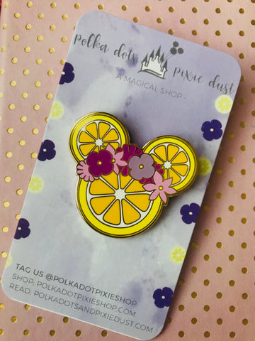 Violet Lemonade Flower and Garden Festival Mickey Flower Pin