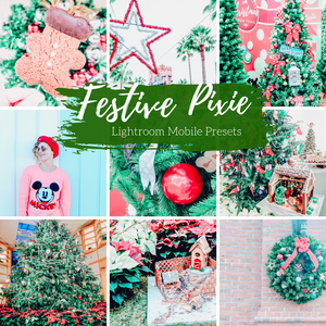 Festive Holiday Mobile Lightroom Preset, 2 Christmas Mobile Presets, Festive Pixie Preset