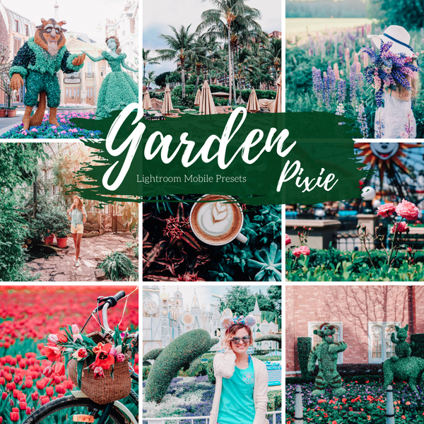 Spring Flower and Garden Greens Light Lightroom Mobile Preset, Travel Blogger Presets, Lifestyle Presets, Fashion Instagram Presets