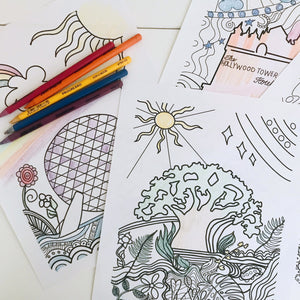 Walt Disney World Parks Disney Coloring Pages Set of 4