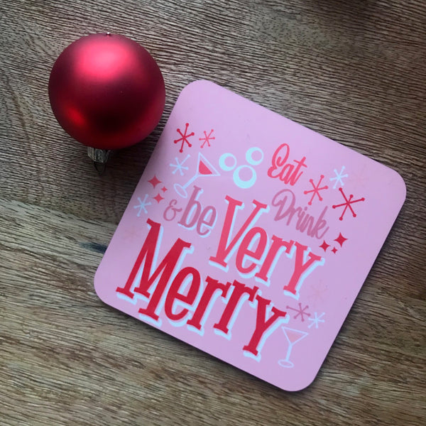 Mickey's Very Merry Christmas Disney Drink Coasters- Set of Four