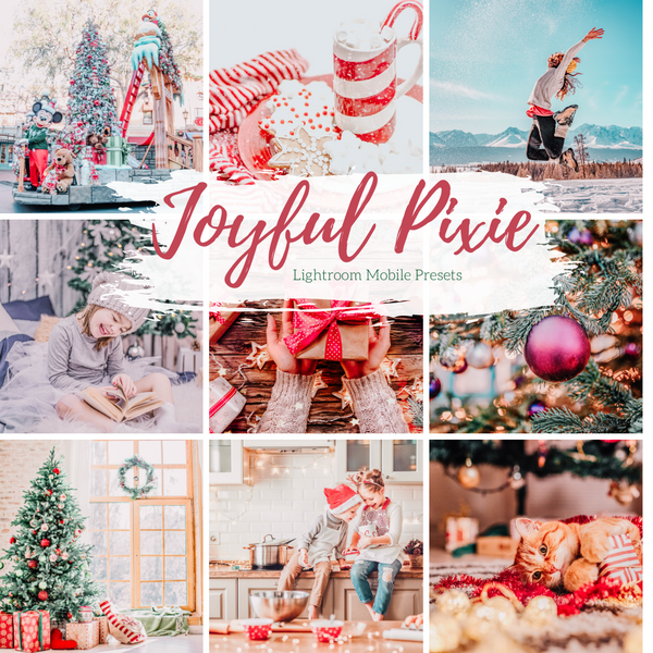 5 of Mobile Lightroom Presets, Joyful Holiday Lightroom Mobile Instagram Presets  Lifestyle presets Travel Photography Presets