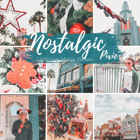 Vintage Retro Film Lightroom Mobile Presets, 5 Travel Blogger Presets, Nostalgic Holiday Lifestyle Presets