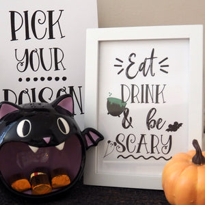 Disney Halloween Bar Cart Printable Art Print- Set of 3