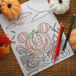 Mickey Pumpkin Halloween Coloring Sheet