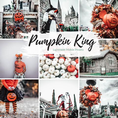 5 Mobile Lightroom Presets, Pumpkin King Moody Fall Lightroom Mobile Instagram Presets  Lifestyle presets Travel Photography Presets