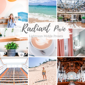 Radiant Bright White Clean Mobile Presets, Lifestyle and Product Mobile Presets
