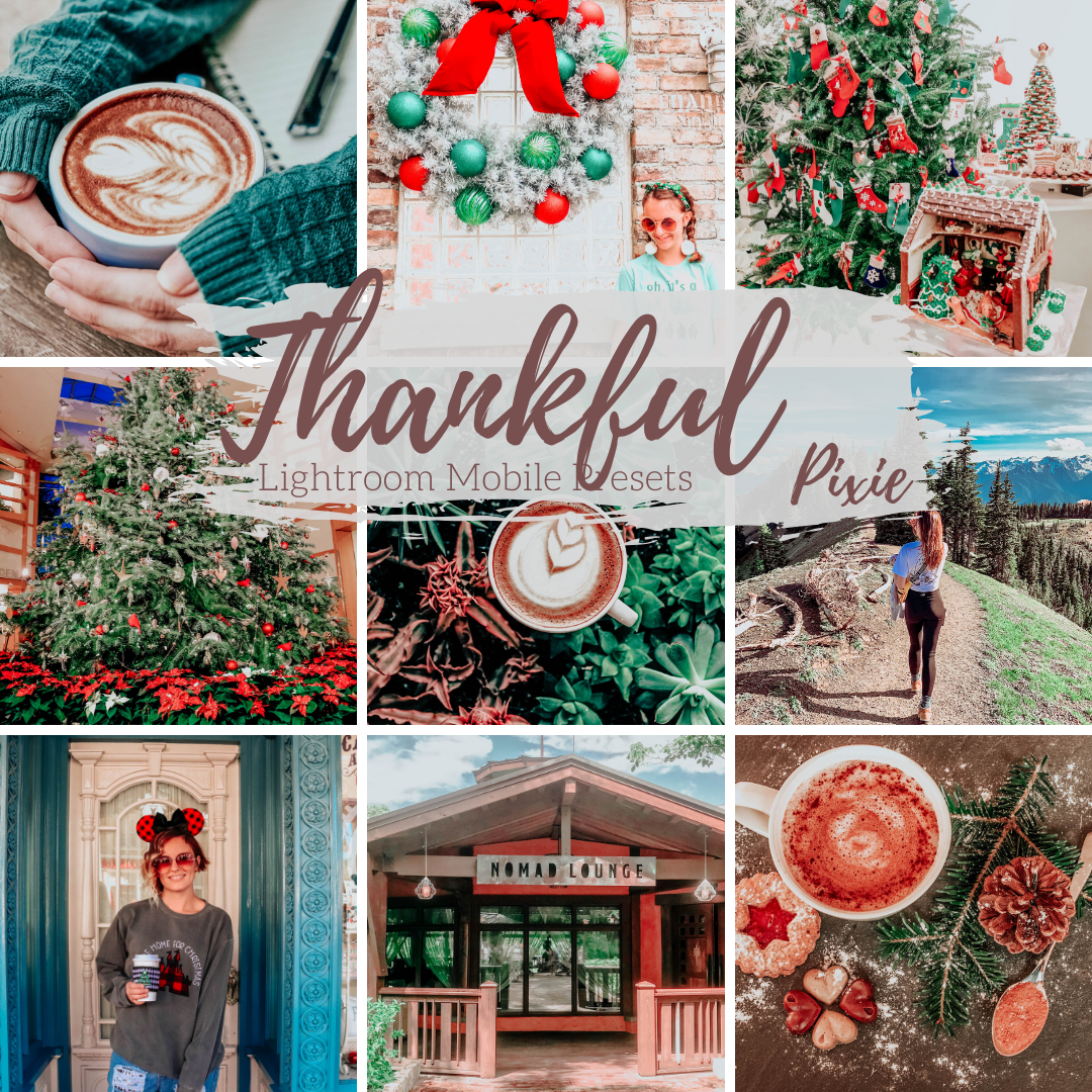 Warm Winter Holiday Lightroom Mobile Presets, Lifestyle and Travel Blogger Presets
