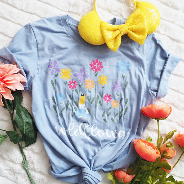 Alice in Wonderland Wildflower Disney T-Shirt Flower and Garden
