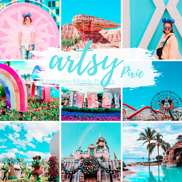 Artsy Blue and Pink Colorful Warm Travel Lifestyle Blogger Instagram Preset