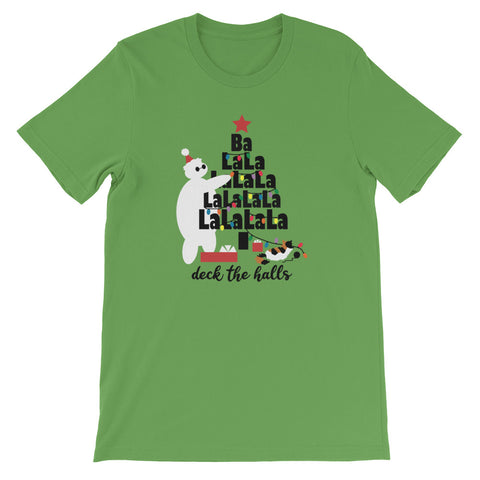 Baymax Disney Christmas T-Shirt. Christmas Tree with Furry Baby