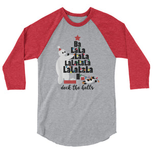 Baymax Disney Christmas Raglan. Christmas Tree with Furry Baby