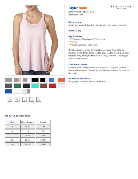 Alice Wildfower Disney Women's Flowy Racerback Tank