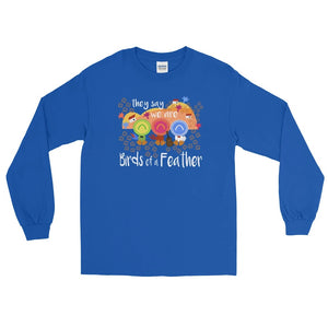 Three Caballeros Long Sleeve Shirt READY TO SHIP, Disney Birds of a Feather Blue- 3XL