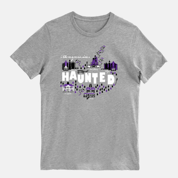Haunted Mansions T-Shirt I Like My Mansions Haunted Disney Unisex T-shirt