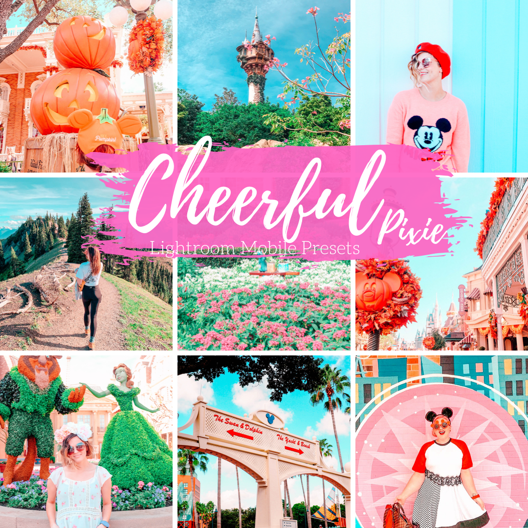 Happy Bright Cheerful Lightroom Mobile Preset, Warm Sunny Travel Blogger Presets, 3 Colorful Lifestyle Presets