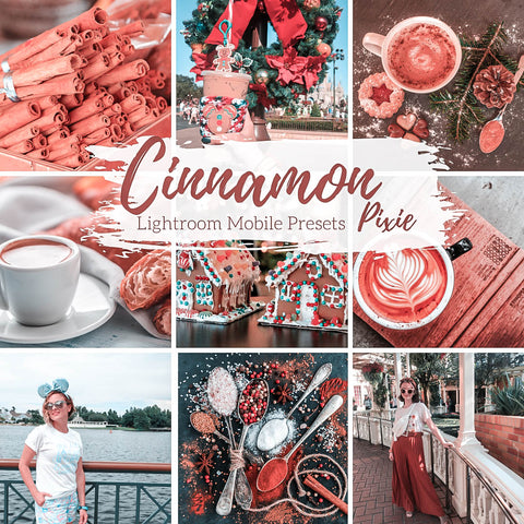 Warm Cinnamon Winter Holiday Lightroom Mobile Presets, 5 Travel Blogger Presets, Christmas Lifestyle Presets