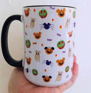 Disney Not So Scary Mug Disney Halloween Boo To You Disney Mug with Black Handle