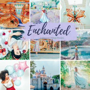 6 Mobile Lightroom Presets, Bright Colorful Enchanted Lightroom Mobile Instagram Presets Lifestyle presets Travel Photography Presets