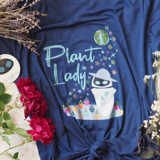 Plant Lady Tri-Blend T-Shirt EVE Disney Wall-E Inspired Short-Sleeve Unisex Tri-Blend