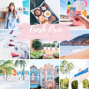 Fresh Pixie, Bright Lightroom Presets, Summer Lightroom Presets, Mobile Presets