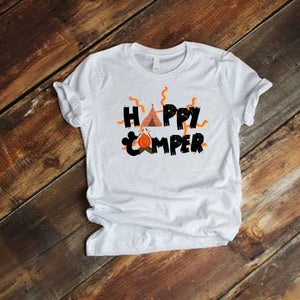 Happy Camper Fort Wilderness Resort and Campground Traveler Vacation Short-Sleeve Unisex T-Shirt