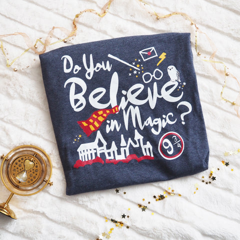 Believe in Magic Gryffindor House Wizarding World Red and Gold Adult Unisex T-shirt