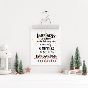 Harry Potter Christmas Lights Holiday Art Print
