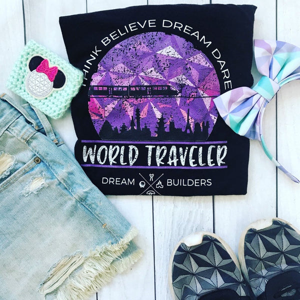 Dream Builders EPCOT T-Shirt Walt Disney World Disney World Traveler Epcot T-shirt