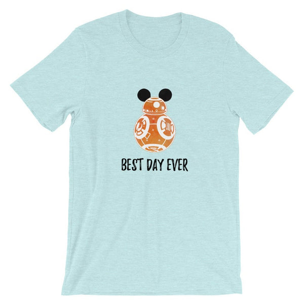 BB8 Star Wars Best Day Ever Disney Adult Unisex Tee