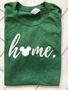 Hidden Mickey Home T-shirt Disney White Script READY TO SHIP