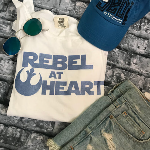 Rebel at Heart Tank Top Star Wars Blue Shimmer