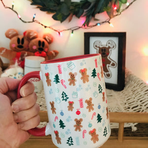 Disney Gingerbread Mickey and Minnie Christmas Coffee Mug