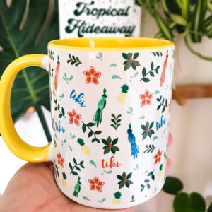 Tiki Tiki Tiki Room Mug Disney Tropical Hideaway Mug with Yellow Color Inside