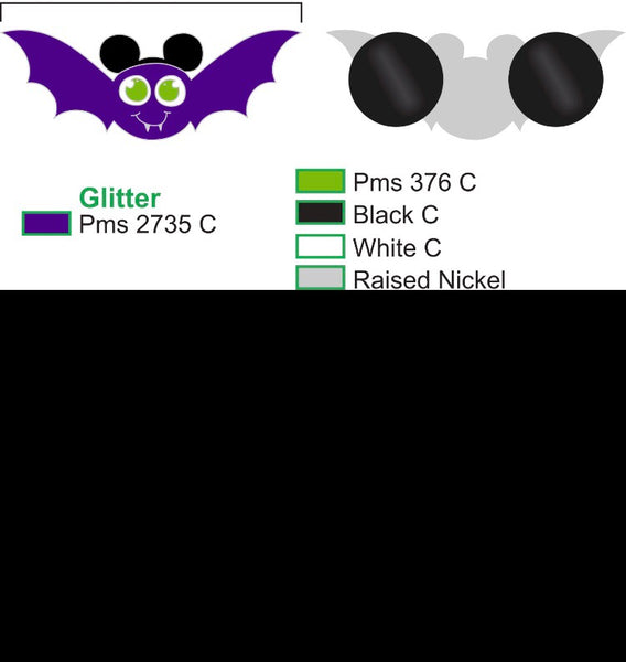 Halloween Bat Disney Enamel Pin Mickey's Halloween Party Mickey Ears Hard Enamel,