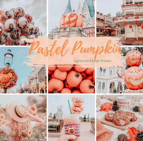 5 Mobile Lightroom Presets, Pastel Pumpkin Fall Lightroom Mobile Instagram Presets  Lifestyle presets Travel Photography Presets