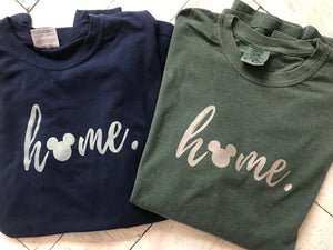 Home Hidden Mickey Comfort Colors Long sleeve Tees READY TO SHIP