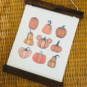 Mickey Pumpkin Patch Home Decor Office Fall Wall Art Print