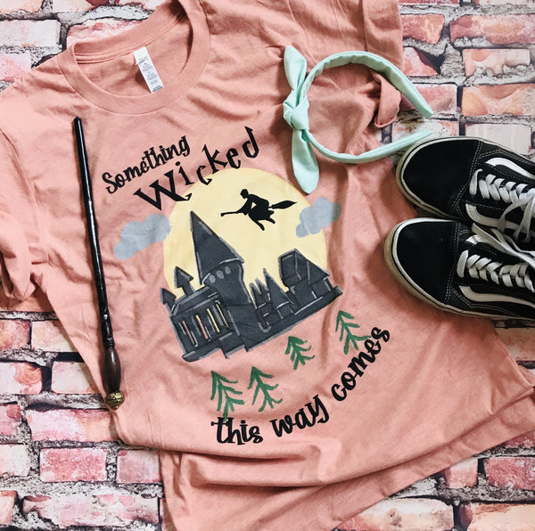 Harry Potter Halloween READY TO SHIP Something Wicked This way Comes T-Shirt- MEDIUM
