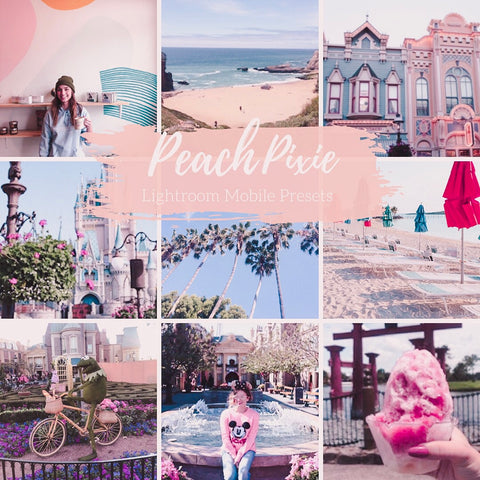 Peachy Pixie Lightroom Mobile Preset Mobile Pack 3 presets