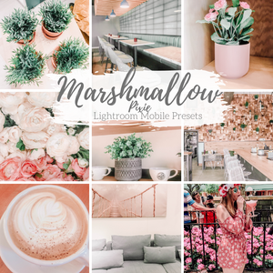 Marshmallow Pixie Soft Light Pink Lightroom Mobile Presets