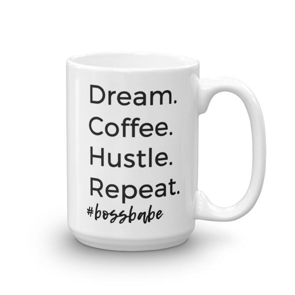 Girl Boss, Dream, Coffee, Hustle, Repeat Mug