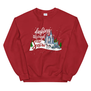 Cinderella Christmas Sweatshirt Dashing Through the Snow