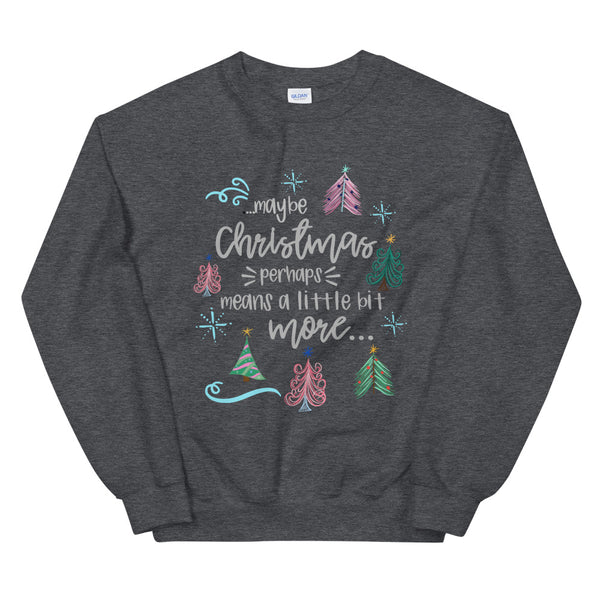 Grinch Christmas Grinchmas Holiday Trees Unisex Sweatshirt
