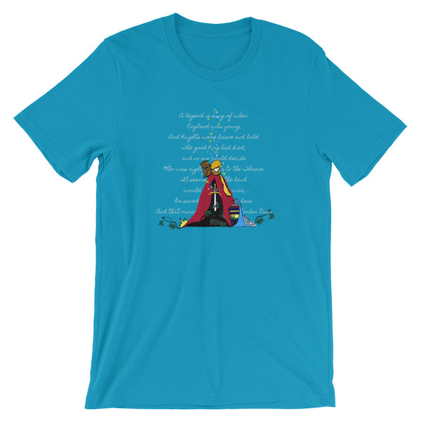 Sword in the Stone T-Shirt King Arthur with Archimedes and Merlin Adult Unisex T-Shirt