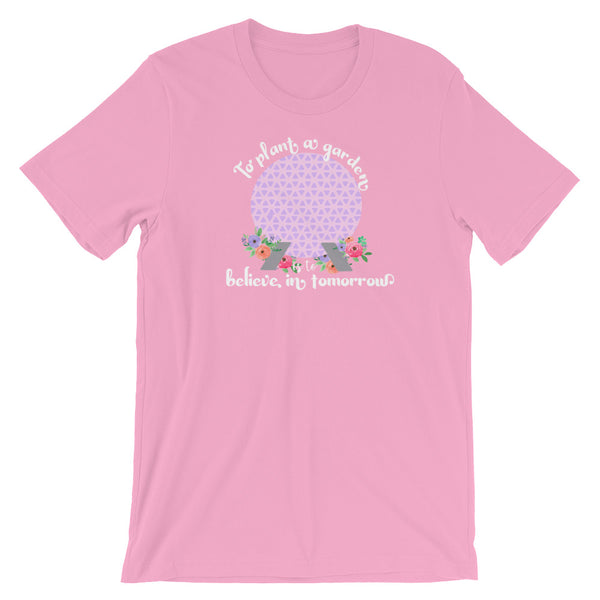 Epcot Flower and Garden Spaceship Earth Floral Disney Short-Sleeve Unisex T-Shirt