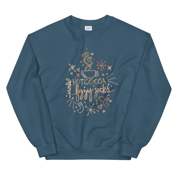 Cocoa and Fuzzy Socks Unisex Sweatshirt